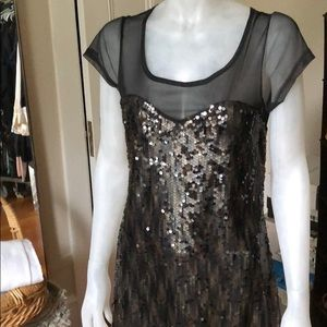 Black Sequence and sheer dress